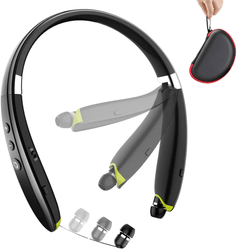 BEARTWO_Foldable_Wireless_Neckband_Headset_for_Workout__Running__Driving